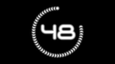 CountdownA-05-ka — Vídeo stock