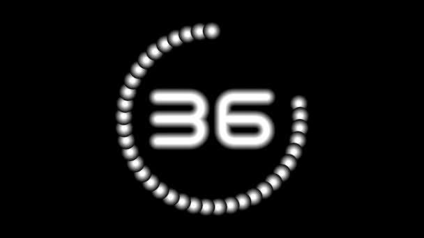 CountdownA-04-kb — Vídeo de stock