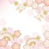 Japanese motif background — Stock Vector