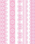 Straight lace set — Stock Vector