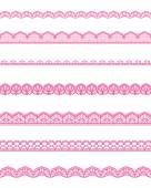 Straight lace — Stock Vector