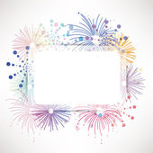 Fireworks background — Stock Vector