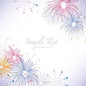 Fireworks background — Stock Vector