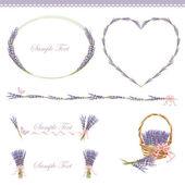 Lavendel-frame — Stockvektor