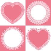 圈子和心花边 — 图库矢量图片