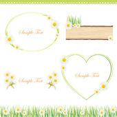 White daisy frame — Stock Vector