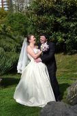 A spring wedding — Stock Photo