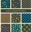 Set of nine seamless patterns. — Stock Vector #71312743