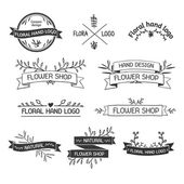 Retro Vintage Insignias or Logotypes set — Stockvektor