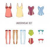 Set of underwear illustration — Stock Vector