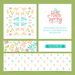 Set of spring greeting cards — Stock Vector #73435631