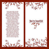 Vertical template greeting card — Stockvektor