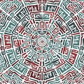 Ethnic round pattern — Stock Vector