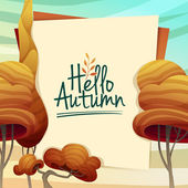 Template Design autumn poster — Stock Vector