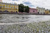 The Fontanka river embankment in Leningrad. — Stock Photo