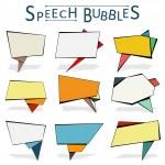 Speechbubbles — Stock Vector #73507631