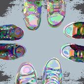 Sneakerscolor — Stock Vector