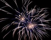Cluster of colorful fireworks — Stock Photo