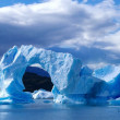 Antarctic ice island in atlantic ocean — Stock Photo #69660243