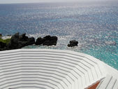 Traditional white bermuda roof pattern. Abstract. — Stock Photo