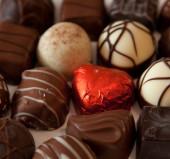 Differents kinds of chocolate bonbons . — Stock Photo
