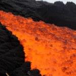 Volcanic eruption magma close up . — Stock Photo #72399297