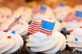 Independence day tasty cupcakes . — Stock Photo