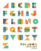 Pop art vintage style alphabet — Stock Vector