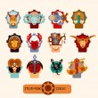 Zodiac signs set — Stock Vector #69834685