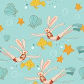 Summer holiday rabbit — Vettoriale Stock