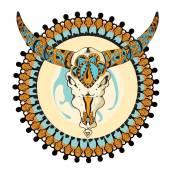Signe du taureau couleur — Vecteur