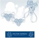 Scandinavian blue north set — Stock Vector