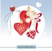 St. Valentines Day set — Stock Vector