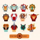 Insieme di segni zodiacali — Vettoriale Stock