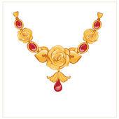 Golden rose jewellery — Stock Vector