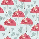 Retro umbrella and rabbit — Stock Vector