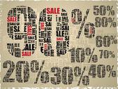 Percent of discounts background — Stock Vector