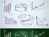 Satz von der Geschäft-Symbolen — Stockvektor