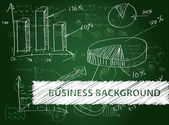 Business diagrams on a blackboard. — Stockvector