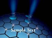 Abstract hexagonal sphere background — Stock Vector