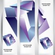 Abstract cube banners. — Stock Vector #70796985