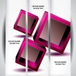 Abstract cube banners — Stock Vector #70798747