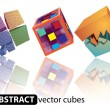 Abstract Colored Cubes — Stock Vector #70799475