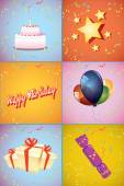 Birthday symbols set — Stock Vector
