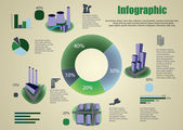 Industrial infographics and diagrams — Stockvector