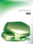 Изумрудные кристалл фон — Cтоковый вектор