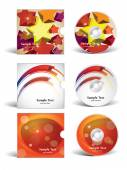 Cd covers design — Stock Vector