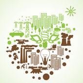 Eco environment icons — Stock Vector