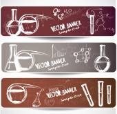 Chemistry symbols banners — Stock Vector