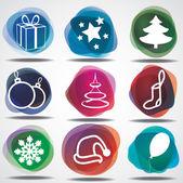 Kış Noel simgeler — Stok Vektör